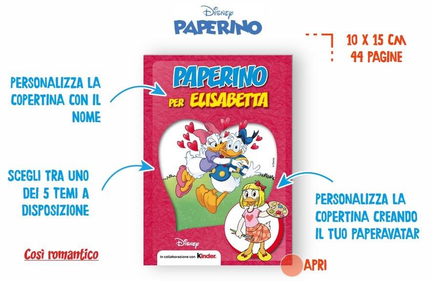 Premio certo Kinder Paperino Merendine Kinder: ricevi un fumetto Paperino personalizzato come premio certo!