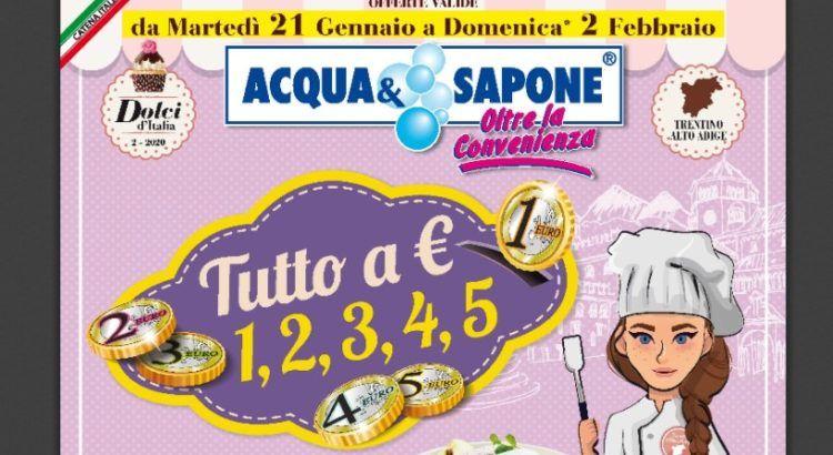 Tutti gli omaggi con acquisto da Acqua e Sapone - Volntino dal 21/01/2020