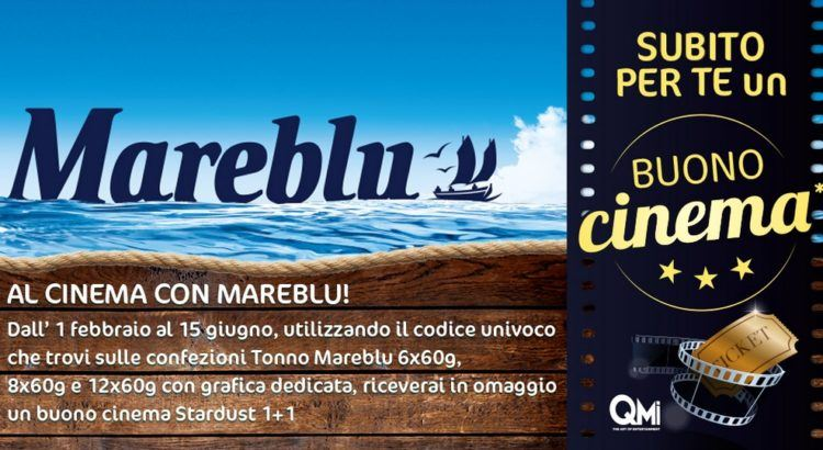 MareBlu ti porta al cinema: ricevi biglietti cinema Stardust 1+1 come premio certo