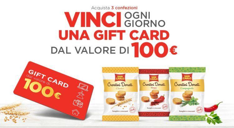 Concorso Crostini San Carlo vinci Idea Shopping