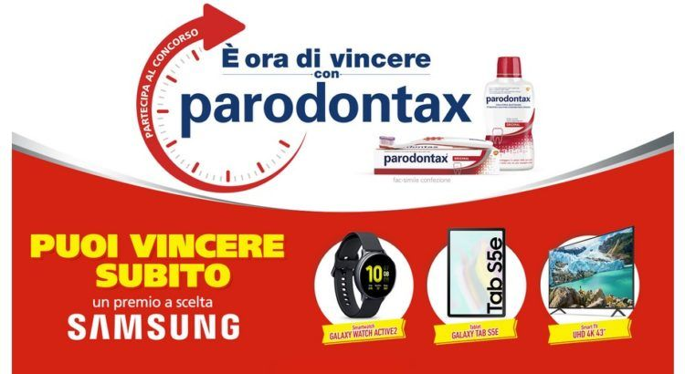 Concorso Parodontax è ora di vincere premio Samsung