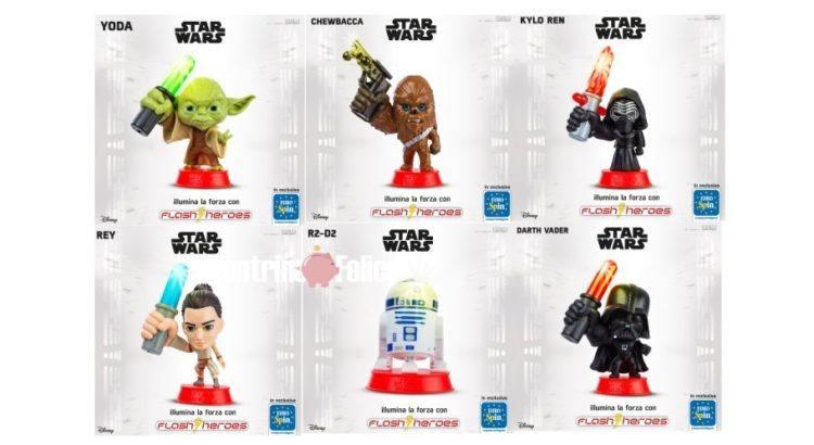Eurospin collezione personaggi Star Wars Flash Heroes