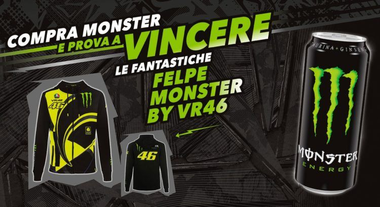 Concorso Monster vinci 70 felpe VR46 Yamaha