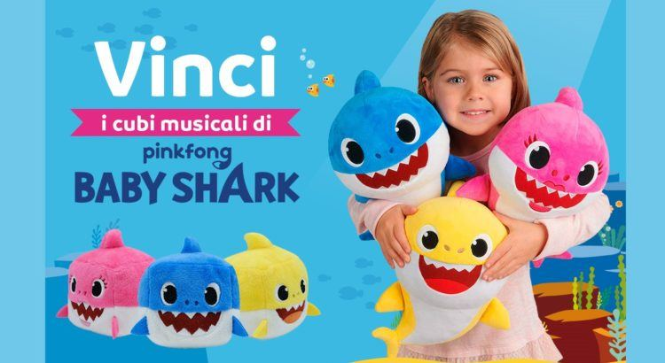 Vinci gratis 15 cubi musicali Baby Shark