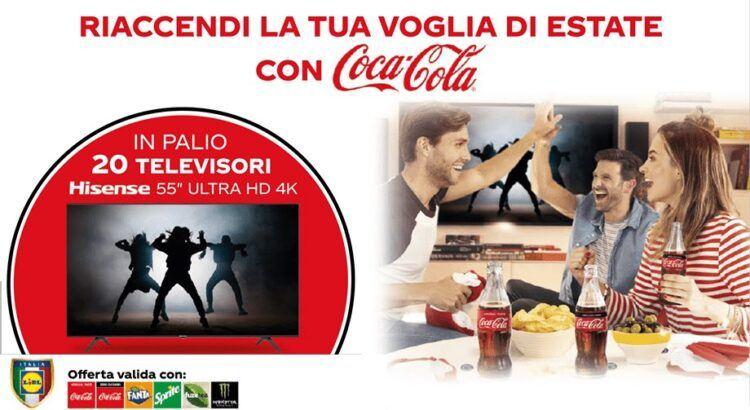 Concorso Coca‑Cola da Lidl vinci un televisore Hisense 55 Ultra HD 4K