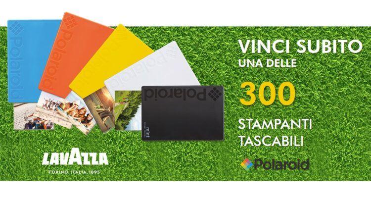 Concorso Lavazza Vinci stampanti tascabili Polaroid