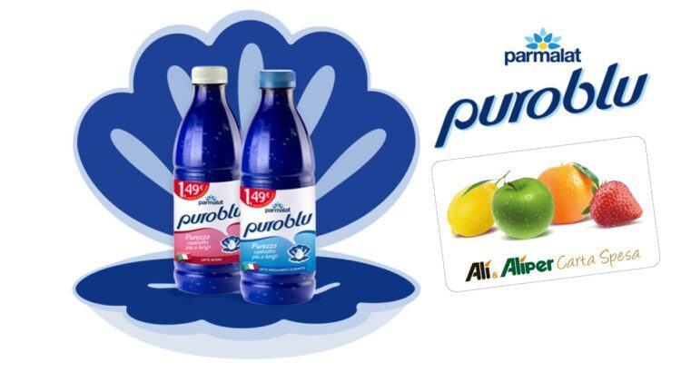Concorso Parmalat PuroBlu da Alì e Alìper vinci buoni spesa da 100 euro