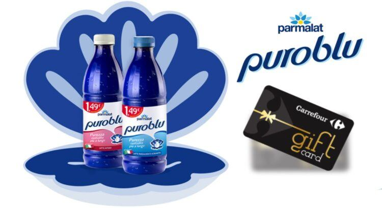 Concorso Parmalat PuroBlu da Carrefour Market vinci buono spesa da 100 euro