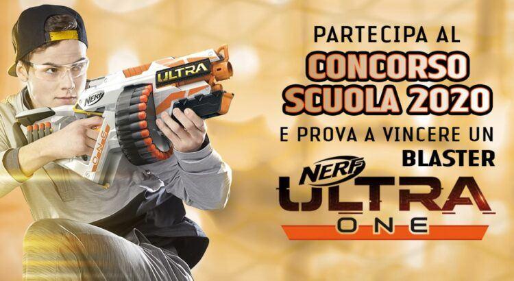 Concorso scuola 2020 zaini Seven vinci Blaster Nerf Ultra One