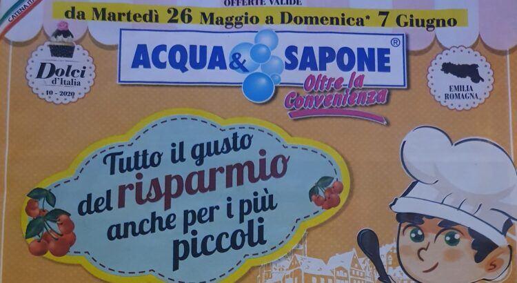 Omaggi Concorsi nuovo Volantino Acqua e Sapone dal 26-05-2020 al 07-06-2020