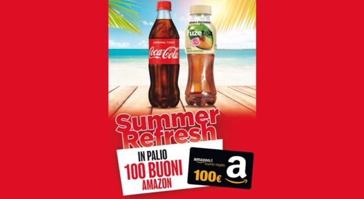 Concorso Coca Cola da Autogrill vinci 100 buoni Amazon da 100€