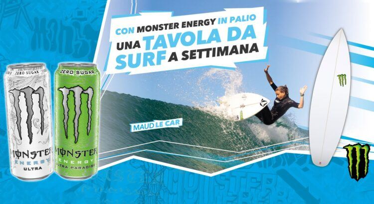 Concorso Monster Energy vinci tavola da surf