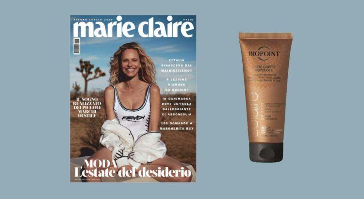 Omaggi in Edicola latte corpo doposole Biopoint con Marie Claire