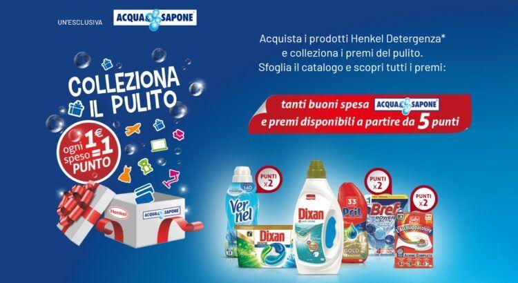 Raccolta Punti Henkel Colleziona il pulito 2020 da Acqua e Sapone