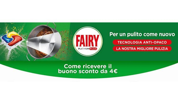 Scopri come ottenere 4 euro di sconto su Amazon per l'acquisto di Fairy Platinum Plus!