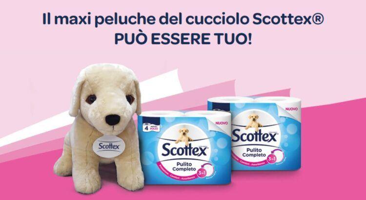 VINCI IL MAXI PELUCHE DEL CUCCIOLO SCOTTEX da Acqua e sapone