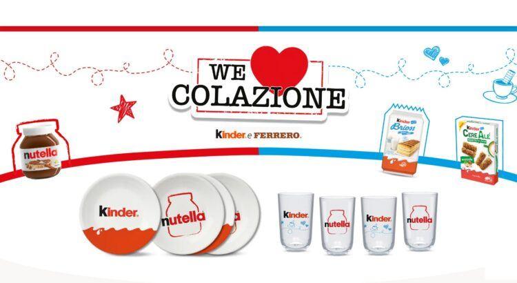 Concorso Nutella Kinder e Ferrero We Love Colazione 2020