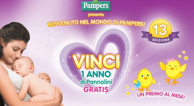 Concorso Benvenuto nel mondo di Pampers XIII edizione vinci un anno di pannolini