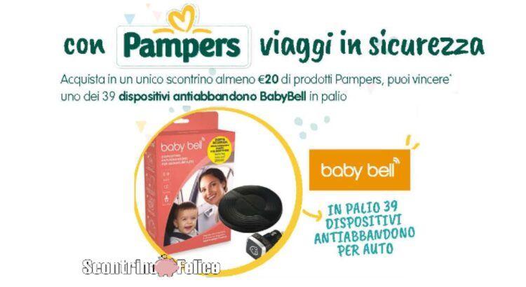 Concorso Viaggia in sicurezza con Pampers vinci Dispositivo anti abbandono Baby Bell
