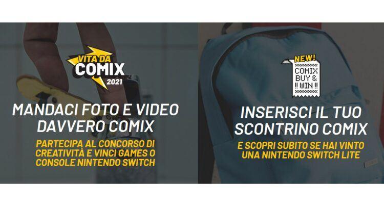 Concorso Vita da Comix 2021 vinci Nintendo Switch