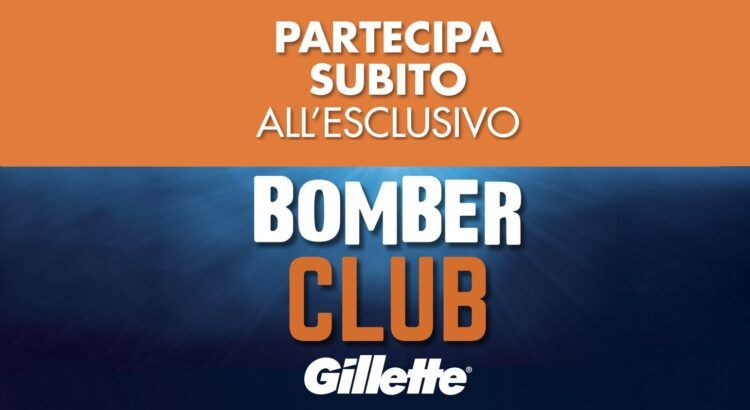 Gillette Bomber Club da Acqua e Sapone ricevi 1 buono spesa di 5€ ogni 20€ spesi