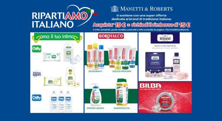 RIPARTIAMO ITALIANO Spendi e Riprendi Manetti e Roberts da Acqua e Sapone e La Saponeria