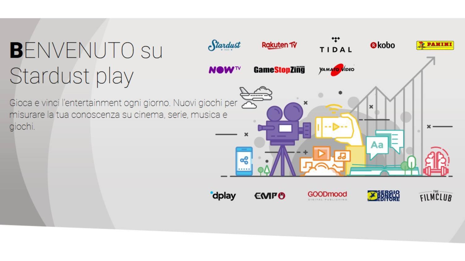 www.scontrinofelice.it stardust play vinci ogni giorno codici sconto abbonamenti streaming ebook buoni cinema e non solo concorso gratuito stardust play