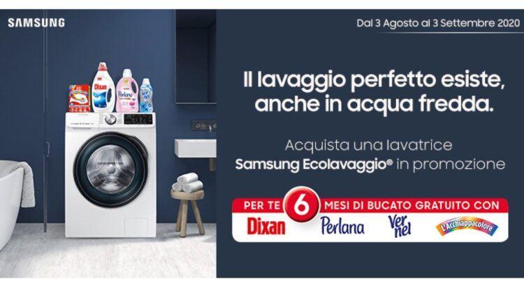 Acquista una lavatrice Samsung Ecolavaggio e ricevi il kit bucato completo Henkel