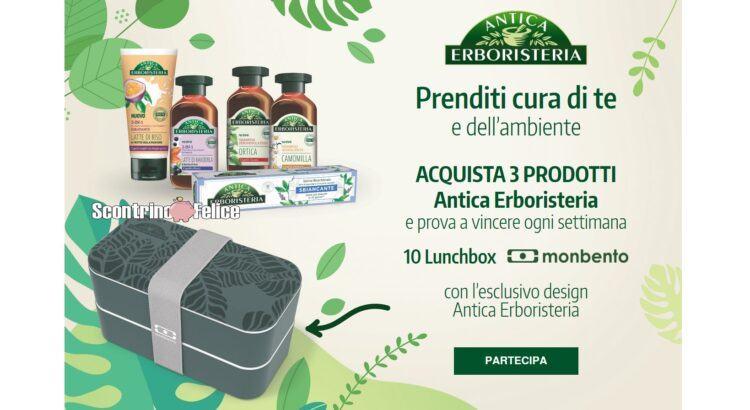 Prenditi cura di te e dell'ambiente con Antica Erboristeria vinci lunchbox Monbento