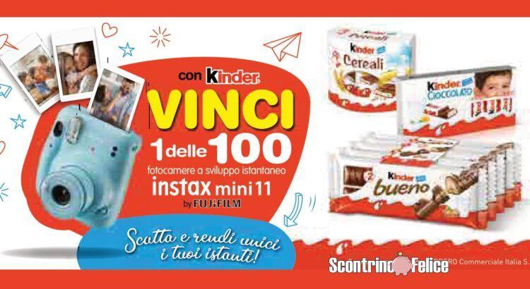 Concorso Kinder e Ferrero da Lidl: vinci 100 fotocamere Fujifilm Instax Mini 11