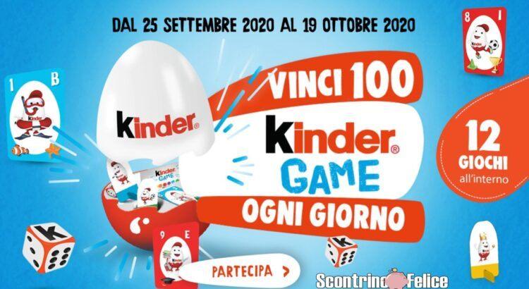 Concorso Kinder in palio 100 Kinder Game ogni giorno