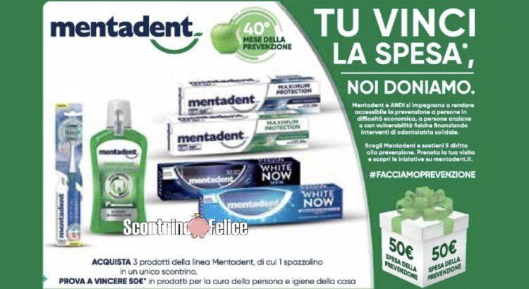 Concorso Mentadent vinci fornitura di prodotti da 50 euro