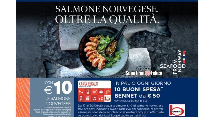 Concorso Salmone Norvegese da Bennet vinci buoni spesa da 50 Euro