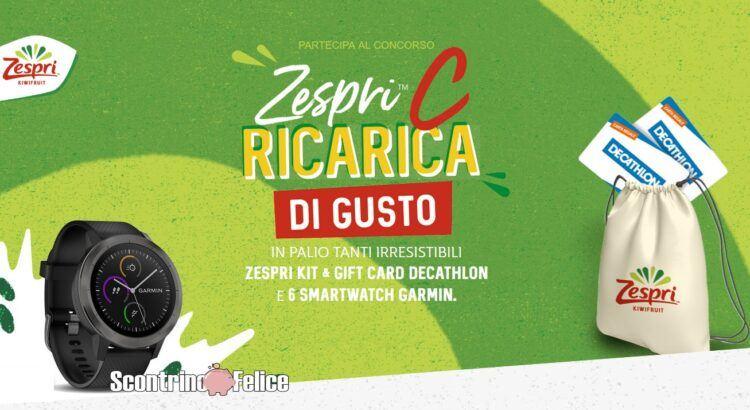concorso Zespri C Ricarica di Gusto vinci decathlon garmin