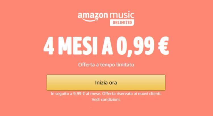 Amazon Music Unlimited 0.99 euro