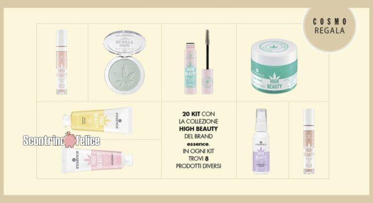 vinci gratis kit beauty essence HIGH BEAUTY in edizione limitata con Cosmopolitan