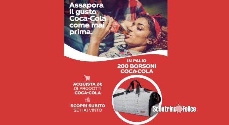 Concorso Coca Cola da Famila e Dok 200 borsoni brandizzati in palio