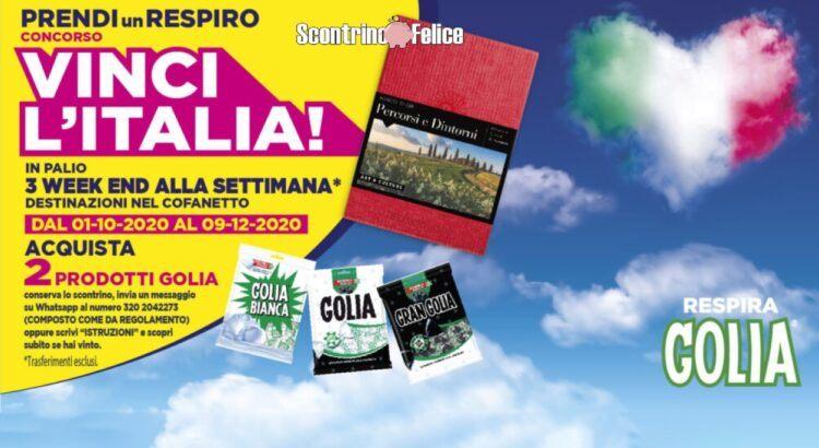 CONCORSO GOLIA 2020 VINCI L ITALIA cofanetti Boscolo