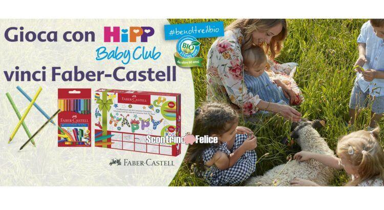 Concorso gratuito HiPP vinci premi Faber-Castell e set di prodotti HiPP