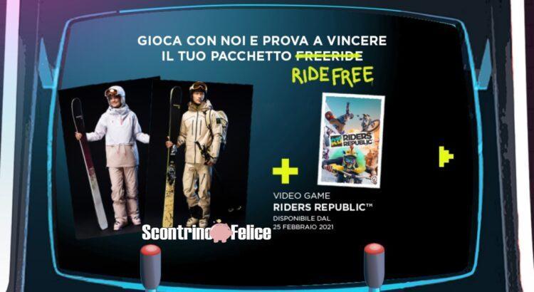 Concorso gratuito Rossignol prova a vincere il tuo pacchetto Ride Free