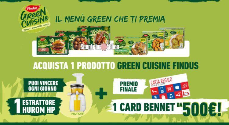 Concorso Green Cuisine Findus da Bennet Il menu green che ti premia