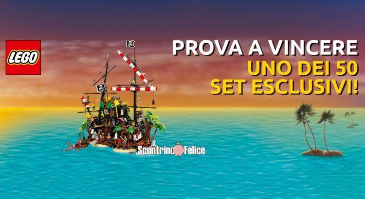 Concorso Lego da Toys Center vinci 50 Playset LEGO I Pirati di Barracuda Bay