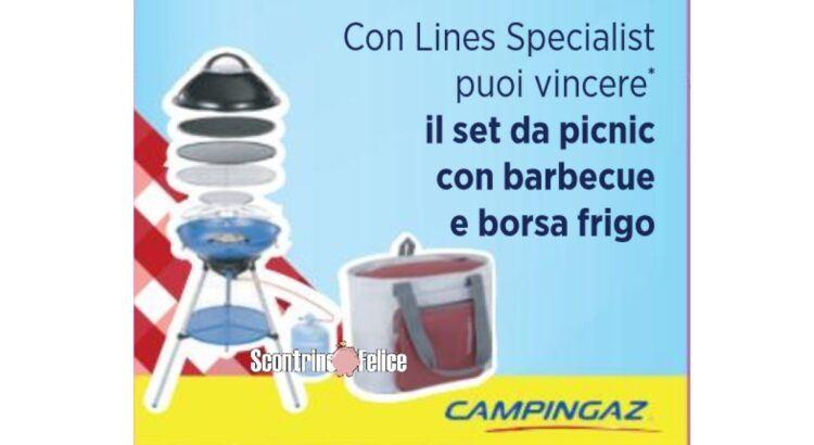 Concorso Lines Specialist da Acqua e Sapone e La Saponeria in palio 10 kit Pic Nic Campingaz