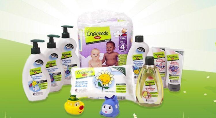 Diventa tester Kit Prodotti Baby Crescendo Coop