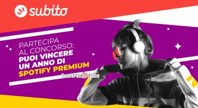 Pubblica un annuncio su Subito.it e vinci abbonamenti annuali a Spotify Premium