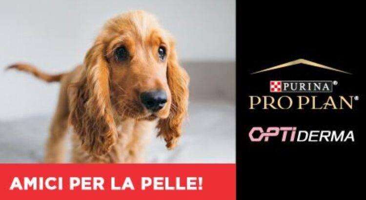 Purina Pro Plan OptiDerma Amici per la pelle vinci gratis 100 forniture