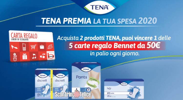 concorso TENA premia la tua spesa 2020 vinci carte regalo bennet