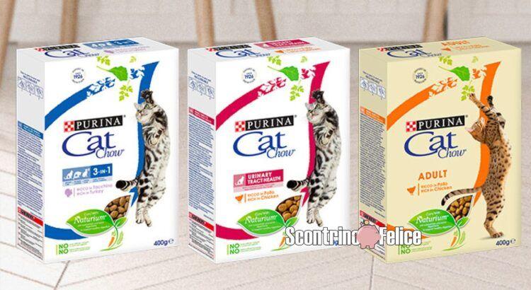 Purina Trova le differenze vinci gratis 100 confezioni di Purina Cat Chow