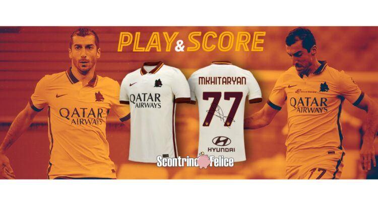 Vinci gratis la maglia Away della Roma autografata da Mkhitaryan