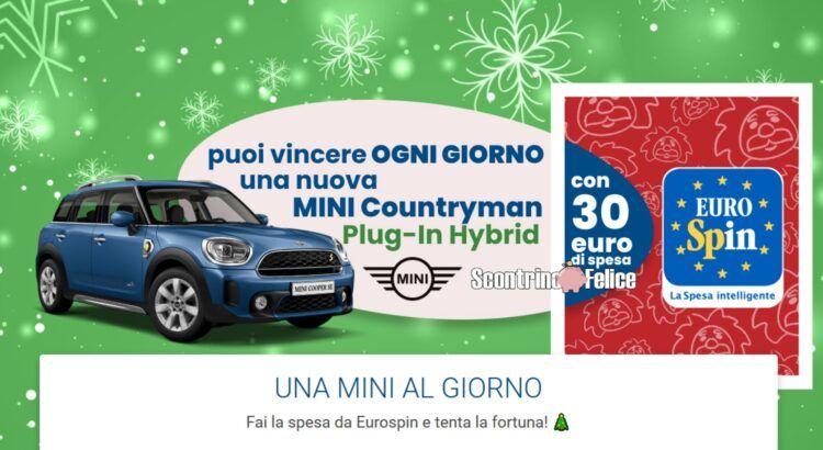 Concorso Eurospin Natale 2020: in palio ogni giorno 1 Mini Countryman Island Blu Plug Hybrid